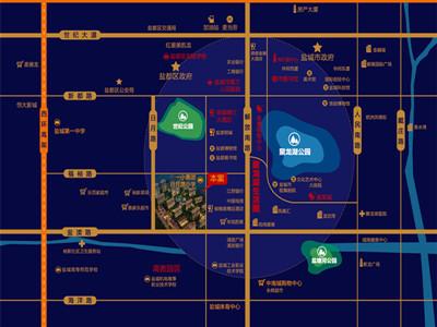 日月星城 区位图