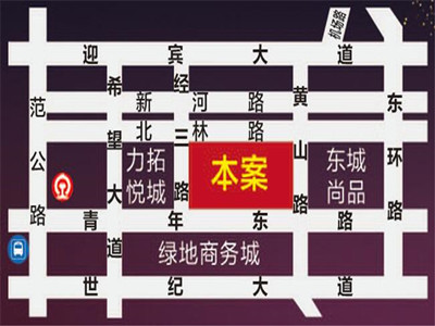 锐轩财富广场 区位图