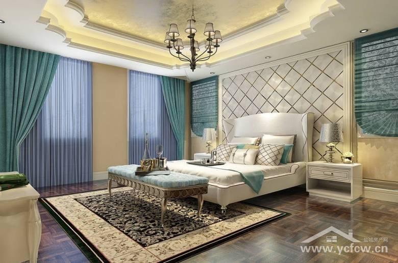 卧室菱形背景墙装修效果图