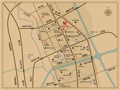 博联·阳光名寓 区位图