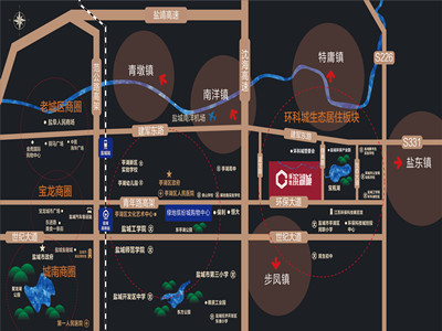 绿地·滨湖城 区位图