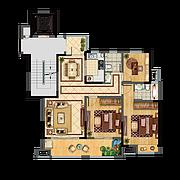 12#A 3室2廳2衛 115㎡ 12#A 3室2廳2衛 115㎡