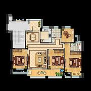 16#D 4室2厅2卫 135.6㎡ 16#D 4室2厅2卫 135.6㎡